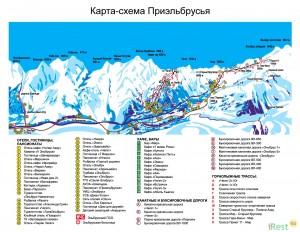Схема курорта Приэльбрусье