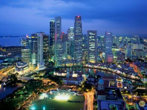 Сингапур - панорама города