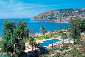 Турция. Вид из отеля на пляж