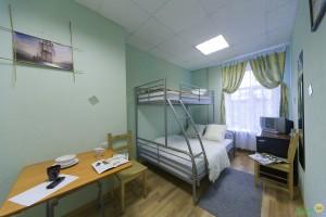 Пример комнаты в хостеле