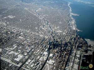 Чикаго со спутника. Фото