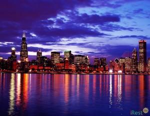Чикаго на рассвете. Фото