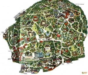 Музей Скансен. Карта