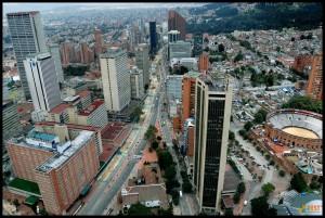 Богота. Фото с вертолета