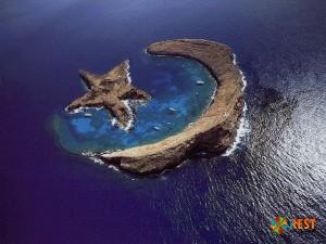 Островок в виде турецкого флага