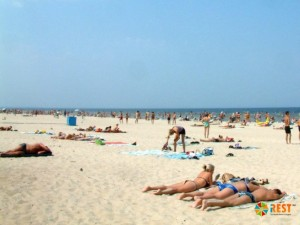 Один из пляжей Юрмалы