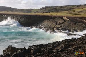 Скалистые берега острова Аруба