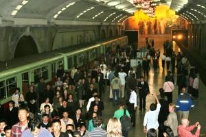 Час-пик в метро Пхеньяна