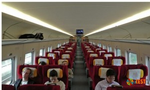 Скоростной поезд изнутри