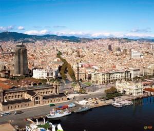 Барселона с вертолета
