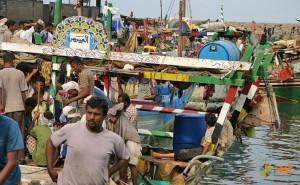 Рыбный рынок в городе Ходейда
