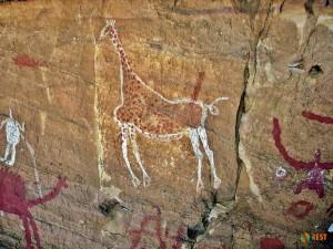 Наскальные изображения в горах Акакус