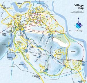 Леви, Финляндия (схема курорта)
