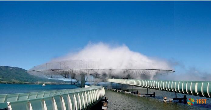 Здание облако в Швейцарии (Нефшатель)