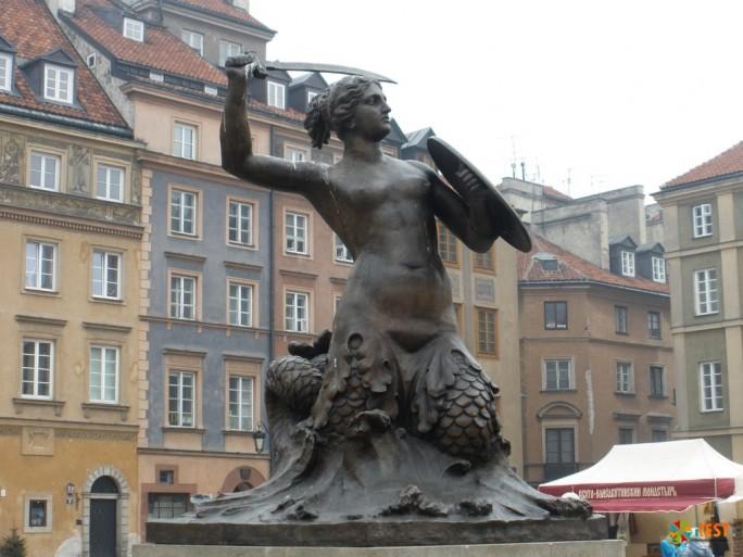 Бронзовая скульптура Сирены