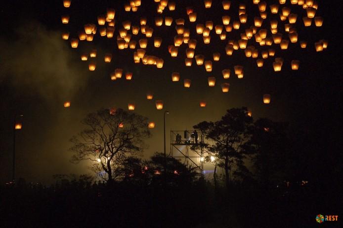 Небесные фонарики для детского праздника