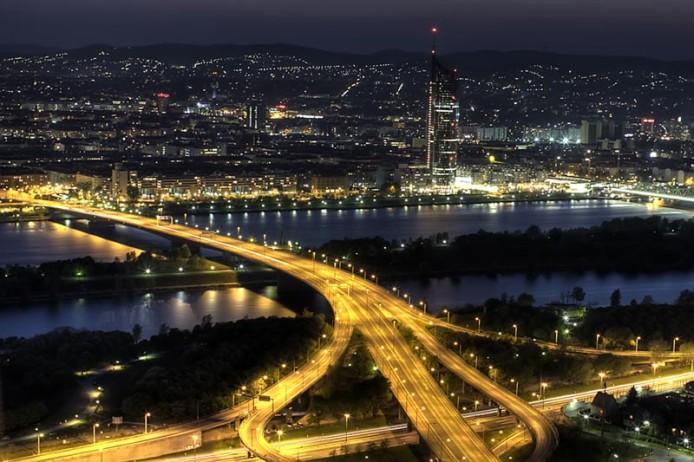 Вена, ночной пейзаж