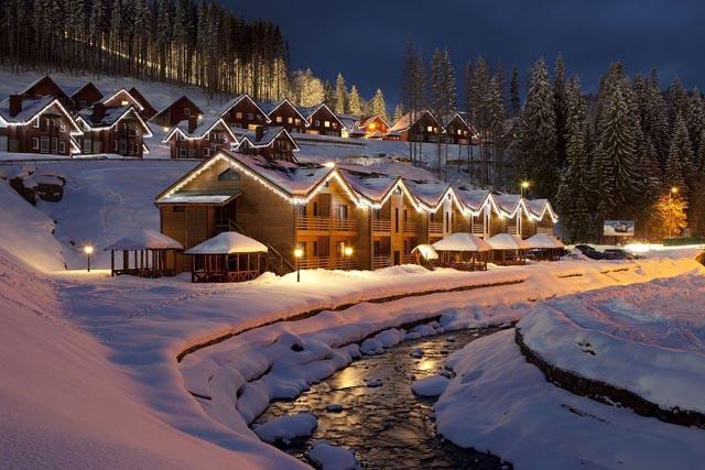 Зимний курорт в Карпатах