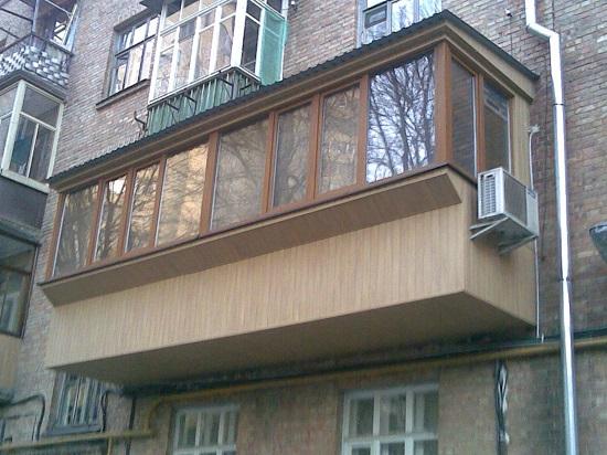 Балконы. Увеличение площади балкона за счет наращивания плиты