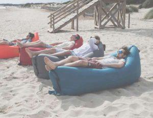 Надувной гамак – матрас – удобное спальное место на природе