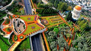 Бахайские сады в Хайфе (Израиль)